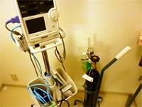 心拍モニター装置と酸素